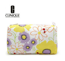 CLINIQUE Makeup Cosmetics Bag with Flower Pattern, Brand NEW!!