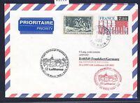 58978) LH FF Edinburgh GB - Frankfurt 28.3.99, Brief ab Frankreich