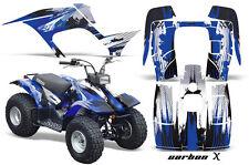 Atv Kit Graphique Quad Autocollant pour Yamaha Breeze 125 89-04 Carbonx Blu
