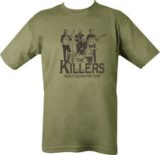 Military Estampado The Killers Camiseta Verde Oliva Para