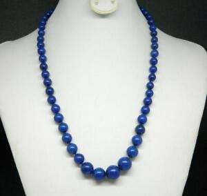 """Estate Graduated Lapis Lazuli Bead Hand Knotted Strand Gold Fill 19.5"""" Necklace"""