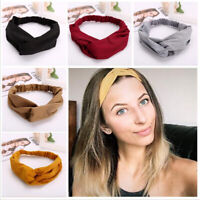 Women Girl Twist Knot Headband Elastic Head Wrap Turban Hair Band Accessories
