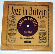 Jazz in Britain 1919 - 1950: 4 CD set with 64 page booklet