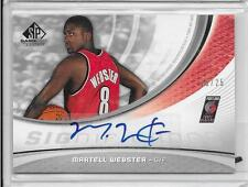 2005-06 SP Game Used - MARTELL WEBSTER - Gold Autograph Rookie - BLAZERS #d15/25
