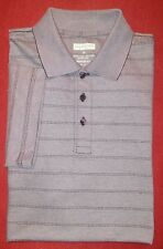 Joseph & Feiss Golf Polo Shirt Mens sz M heather lavender stripe modern fit EUC