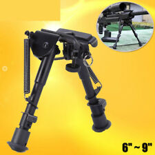 6-9 inch Foldable Spring Return Sniper Hunting Rifle Bipod Sling Swivel Mount FG