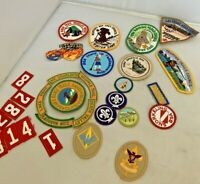 Boy Scout Patches Lot of 30 Mixed BSA Nevada Basin Trail Zions Cub Merit Rank