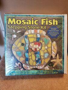 New Still Sealed Mosaic Fish Stepping Stone Kit by Milestones