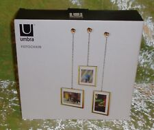 Umbra Foto Chain Floating Photo Display Set of 3 New in Box