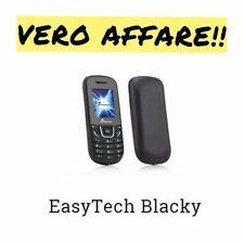TELEFONO CELLULARE DualSim EASYTECK BLACKY New NERO
