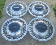 """Set of 4 OEM 1989-1990 Dodge Dynasty Caravan 14"""" Wire Spoke Hubcaps Wheel Covers"""