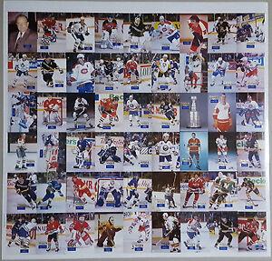 1994 Hockey Wit Rare Uncut Sheet BRYAN TROTTIER Grant Fuhr MAURICE RICHARD /500