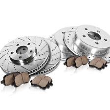 Front & Rear Drill Slot Brake Rotors & Ceramic Pads For TSX Accord EX EX-L