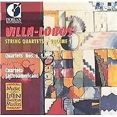 VILLA LOBOS:STRING QUARTETS VOL 1 NEW CD