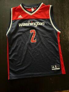 Washington Wizards Adidas John Wall Jersey Youth L Blue Alternate Jersey