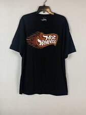 Vintage Inspired Hot Wheels XL Black S/S Graphic T-Shirt Logo 90s Toy Car