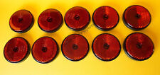 Free UK POST 10 x Red Rear Screw On Round 60 mm Reflectors-Trailers Horse box