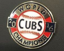2016 CHICAGO CUBS WORLD CHAMPIONS PIN $7.49 WORLD SERIES COLLECTIBLE  1.5 DIAM.