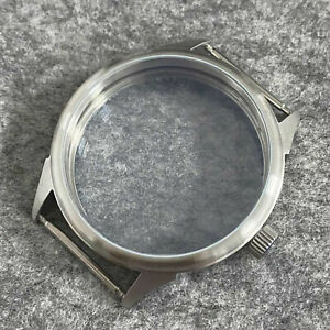 42MM Frosted Transparent Bottom Watch Case for ETA6497 ST36 Watch Movement