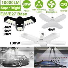 100W 10000Lm Deformable Led Garage Light Super Bright Shop Ceiling Lights Bulb