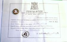 ANTIQUE POPE SAINT PIUS X FIRST CLASS RELIC EX CARNE GOLD TONE THECA 1955 COA