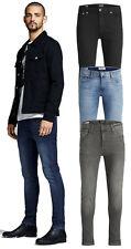 Jack & Jones Jeans Hosen für Männer Herren slim fit skinny stretch schwarz blau
