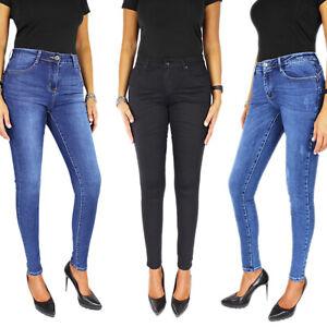 Jeans Donna Denim Push Up Skinny Pantaloni Elasticizzati Casual SlimFit Aderenti