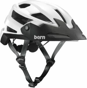 CYCLING MTB BIKE HELMET ADULT BERN FL-1 TRAIL MEDIUM WHITE 55.5 - 59 CM