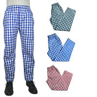 100% Cotton LARGE CHECK TROUSER unisex work cooking sleeping catering trousers