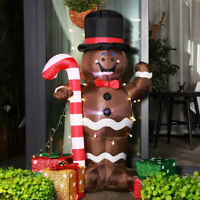 VIVOHOME 5ft Inflatable LED Gingerbread Man Christmas Airblown Yard Door Decor