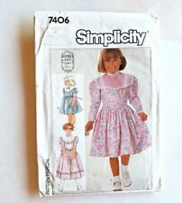 Gunne Sax Girls Dress Sewing Pattern 7406 Sz.4 Full Skirt -Very Cute CUT Vintage