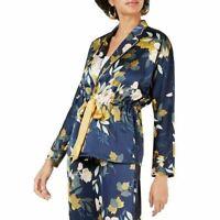 Lucy Paris Jacket Celine Wrap Floral Kimono Women Navy Blue Sz S NEW NWT 463
