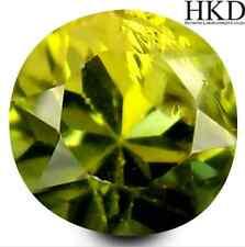 1.20 ct HKD-certified Unheated Natural Round-cut Yellow IF Tanzanite (Tanzania)