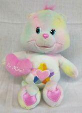 "Care Bears 2005 True Heart Bear 10"" Plush Toy Stuffed Pastel Star Used"