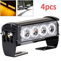 4× 12V/24V LED Recovery Strobe Car Truck Flashing Emergency Grille Bar Light