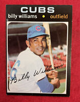"1971 Topps BILLY WILLIAMS ""Sweet Swinging""#350 Chicago Cubs HOF"