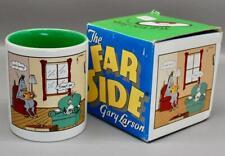 "VINTAGE GARY LARSON ""THE FAR SIDE"" COFFEE MUG NEW IN BOX - DUMB BUNNY, SMART ASS"