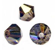 20 Perles Toupies 4mm  cristal Swarovski - SMOKY QUARTZ AB