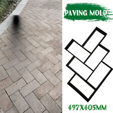 L Cement Brick Stone Road Paver Maker Garden Walk Pavement Mold Path DIY Paving