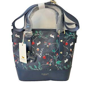 Radley Tote Bag Navy Floral Should Handbag Whimsical