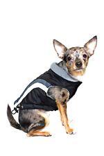 NWT Hip Doggie Swiss Alpine Ski Vest for Dog, Color:Black, Size:Large