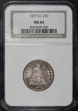 1877-CC Liberty Seated Quarter  NGC MS-64 -34230