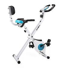 Klarfit Azura Comfort Bicycle Trainer Cardio Fitness Exercise Bike W. Backrest