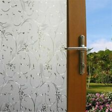 USA Frosted 3D Window Film Floral Privacy Static Cling Glass Door Sticker Decor