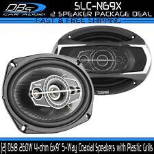 """DS18 SLC-N69X 6x9"""" Car Door Coaxial 260W 4-ohm 5-Way Rear Deck Fullrange Speaker"""