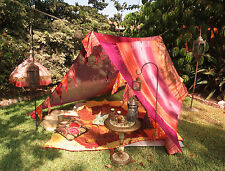 Boho Gypsy TENT glamping festival burning man photo shoot bed canopy ethnic deco