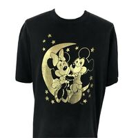 Vintage 90s Mickey and Minnie Mouse Black T Shirt Men's XL Disney Unlimited Tee