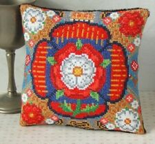 Tudor Rose Garden Mini Cojín Kit Punto De Cruz, Sheena Rogers Designs