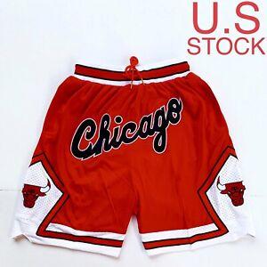 Chicago Bulls Basketball Shorts Vintage Mens Red White 97-98 Sizes S-2XL US