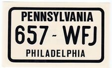 figurina U.S.A. TARGHE NUMBER PLATES EDIZIONE FIGURINA CLUB NEW PENNSYLVANIA